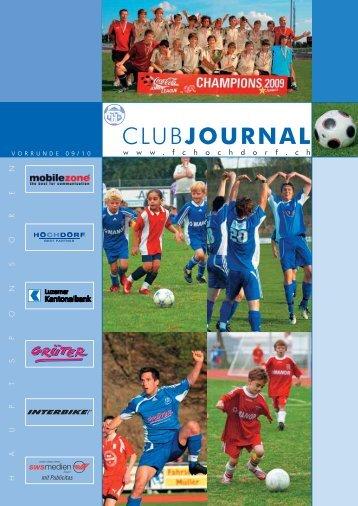 Download Clubjournal Vorrunde 09/10 - REGIOfussball.ch