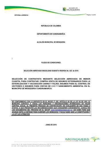 PLIEGOS DE CONDICIONES DEFINITIVOS