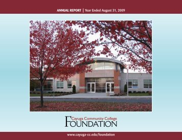 ANNUAL REPORT - Cayuga Community College