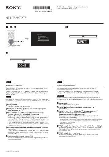 Sony HT-NT3 - HT-NT3 Autre Suédois