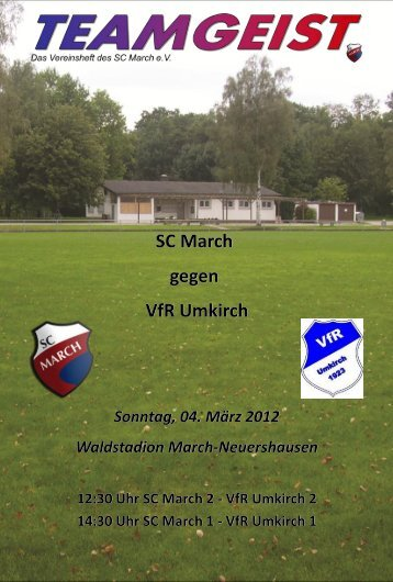 SC March gegen VfR Umkirch