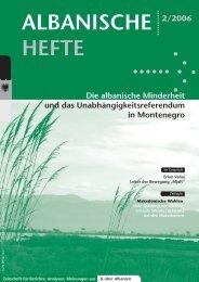 Albanische Hefte -2-2006 - PDF - Deutsch-Albanische ...