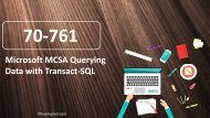 ExamGood Microsoft 70-761 Querying Data with Transact-SQL real exam questions