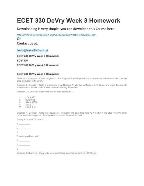 ecet 330 homework