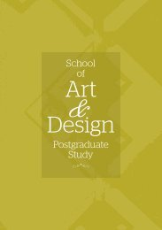 Art Design - Nottingham Trent University