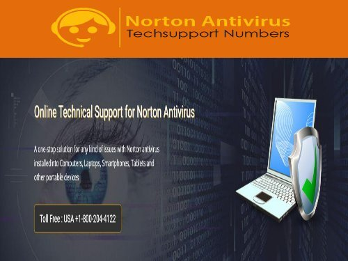 1 (800) 204-4122 Norton Customer Support Phone Number