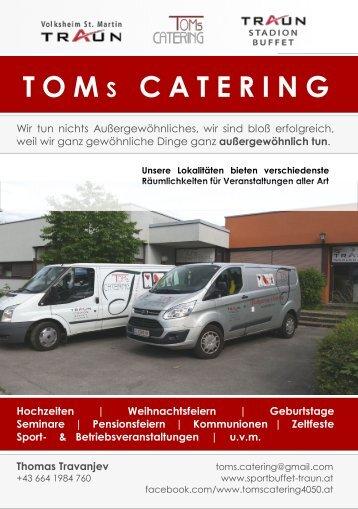 Tom´s Catering Speisekarte