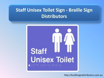 Staff Unisex Toilet Sign - Braille Sign Distributors