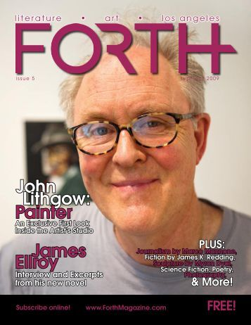 John Lithgow: Painter James Ellroy - FORTH Magazine