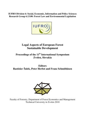IUFRO Meeting-Zvolen 2008