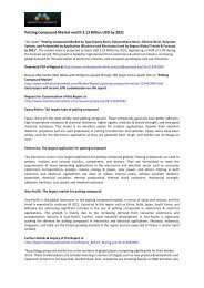 Potting Compound Market  - Global Forecast to 2021