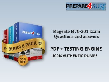 M70-301 Exam Dumps with Updated Magento M70-301 Answers