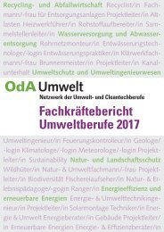 Fachkräftebericht Umweltberufe 2017