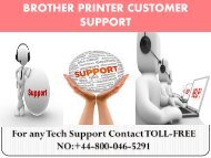 Brother Printer Customer Support Phone Number  +44-800-046-5291