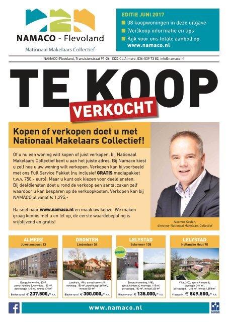 NAMACO Flevoland Woonmagazine, uitgave juni 2017