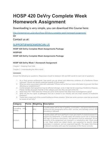 Week 7 assignment busn 420