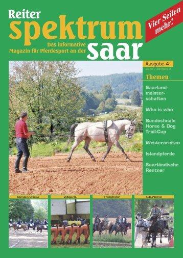 Reiter Spektrum Saar Ausgabe 4-2010