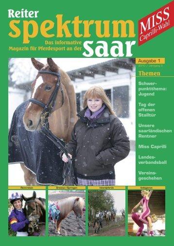 Reiter spektrum Saar Ausgabe 1-2010