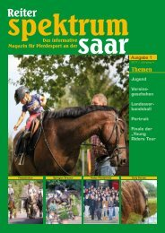 Reiter Spektrum Saar Ausgabe 1-2011