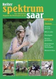 Reiter Spektrum Saar Ausgabe 2-2011