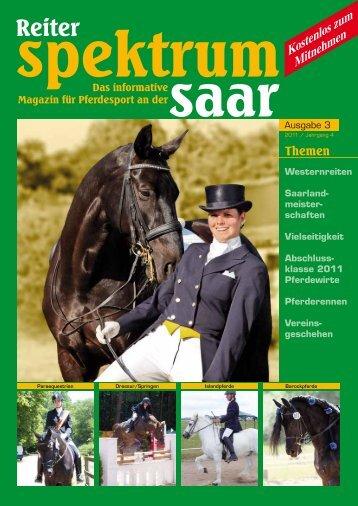 Reiter Spektrum Saar Ausgabe 3-2011