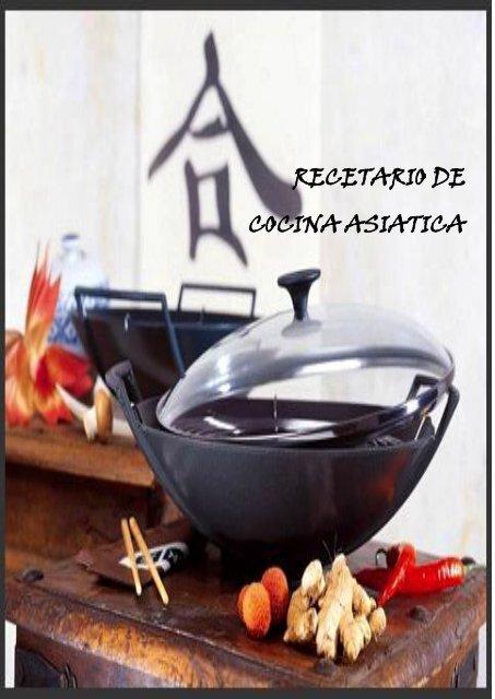 Recetario De Cocina Asiatica Pdf