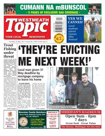 Westmeath Topic - 25 May 2017