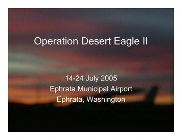 2005 Desert Eagle Flight Academy II Annual