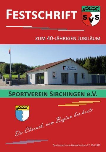 Festzeitschrift zum 40-jährigen Jubiläum des SV Sirchingen