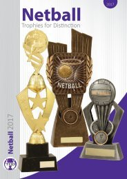 2017 Netball Trophies for Distinction