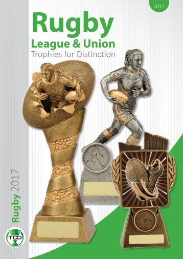 2017 Rugby League & Union Trophies for Distinction