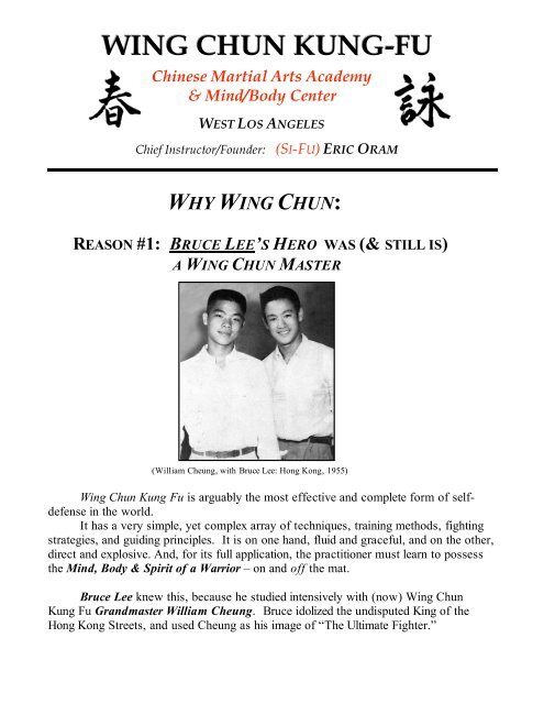 Why Wing Ch Un Pdf Traditional Wing Chun Kung Fu