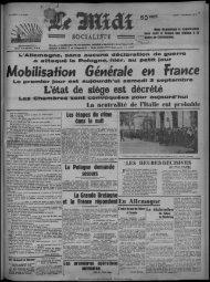 Mobilisafion Générale en France - Bibliothèque de Toulouse