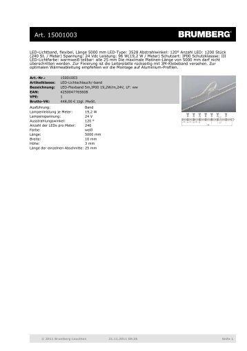 LED-Lichtband, flexibel, Länge 5000 mm LED-Type - Sonepar