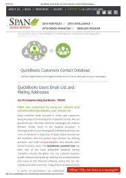 QuickBooks Users Contact List