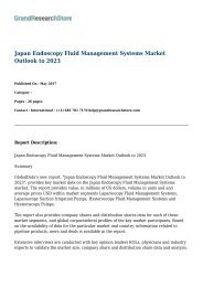 Japan Endoscopy Fluid Management Systems Market Outlook to 2023