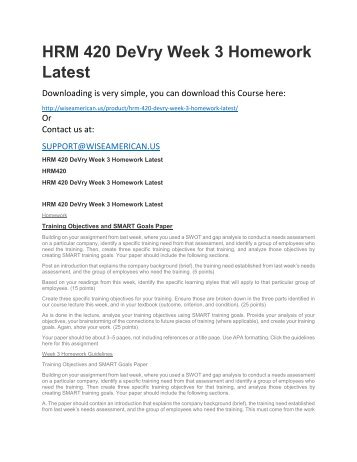 hrm 592 week 5 mini paper Devry hrm 592 all weeks (3,5&7) 5&7) course project homework lance online homework help home report for this project in week 5 in the minipaper.