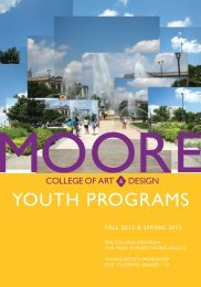 YOUTH PROGRAMS - Moore College of Art & Design