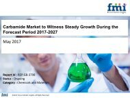 Carbamide Market to Witness Steady Growth During the Forecast Period 2017-2027