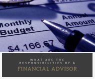 What is a Financial Advisor