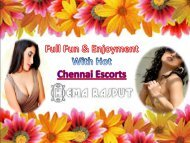 Full Fun and Enjoyment with Chennai Escorts