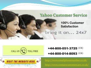 Yahoo Mail Helpline Contact Number UK