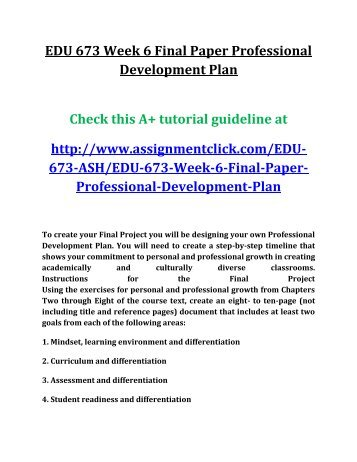 Learning and development essay