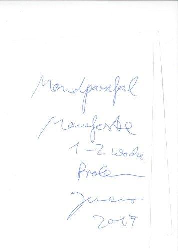 Mondparsifal Probenmanifest Jonathan Meese