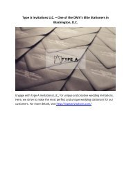 Type A Invitations LLC. – One of the DMV's Elite Stationers in Washington, D.C.