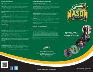 Spring 2012 Fitness Classes - Recreational Sports - George Mason ...
