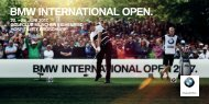 BMW International Open 2017 - Hospitality Broschüre