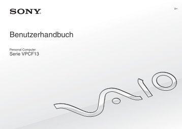 Sony VPCF13L8E - VPCF13L8E Mode d'emploi Allemand