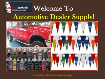 Car detailing chemicals