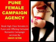 VIP Female Campaign Service Agency-Swati Sethi